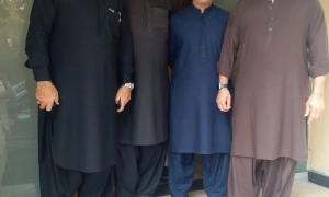 MNA Mian Ahmed Raza Maneka, Mr. Adil Laleka, Mr. Talib Raza Sial and Mr. Waqar Ahmed Khan