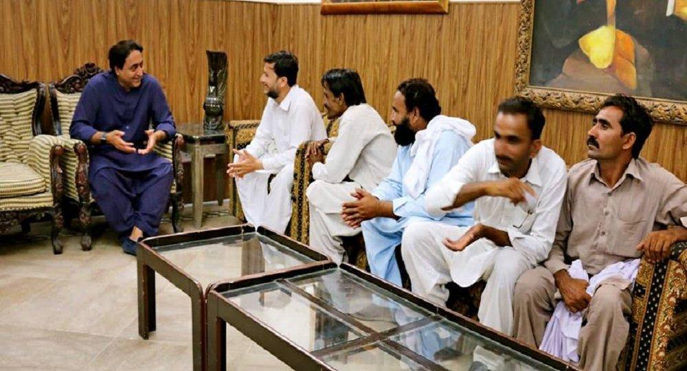 With DOst Muhammad Kha
